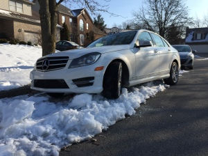 Benz on snow